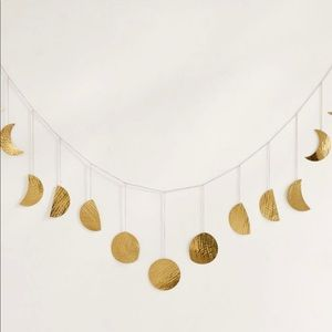 Hammered-gold Moon Phase Wall Decor
